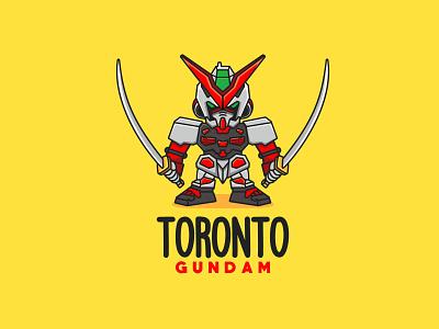 TORONTO GUNDAM branding animal cute character mascot illustration logo toys