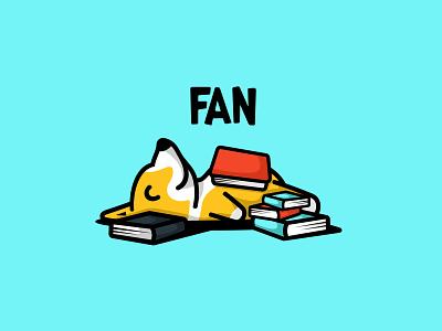 Logo design for FAN branding design character animal cute mascot illustration logo babyshop baby book pet puppy dog
