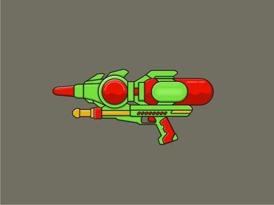 Water Gun iconoftheday illustration icon watergun water gun