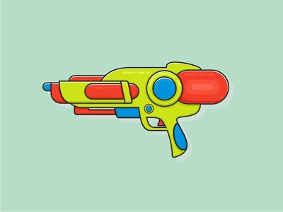 Water Gun 2 iconoftheday illustration icon watergun water gun