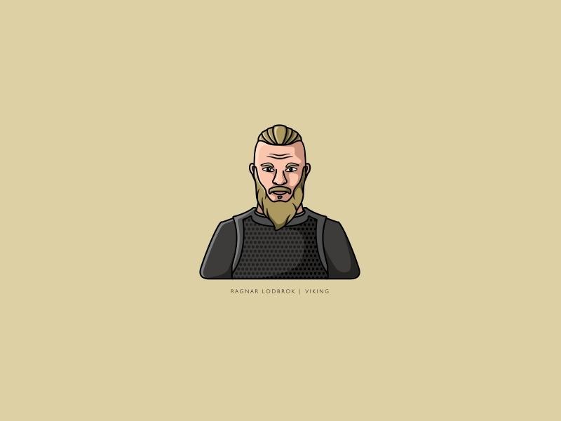 Viking | Ragnar Lodbrok illustration logo skal legretha floki ragnar-lodbrok ragnar vikings viking