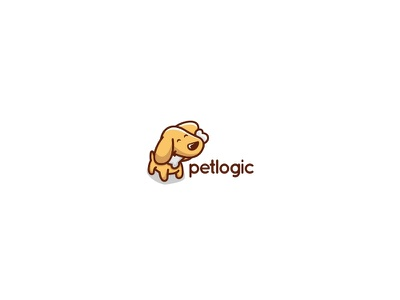 Petologic logo pet-shop cute bones animal dog pet