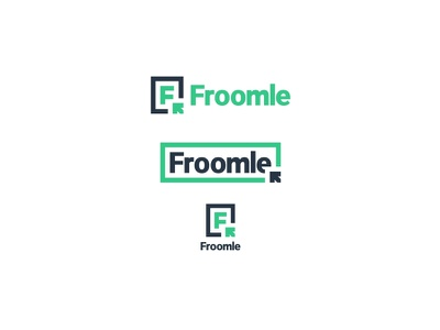 Froomle illustration logo choose cursor arrow