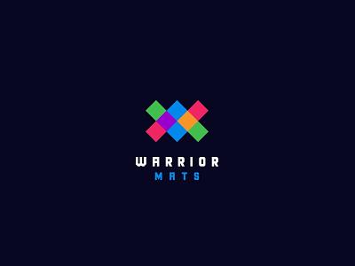 WARRIOR MATS illustration logo mats warrior
