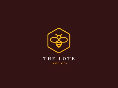 The Lote & Co yellow cute unused illustration logo behive bee