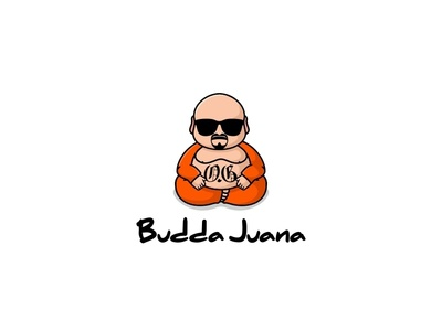 Budda Juana mascot cute illustration logo marijuana weed gengster buddha