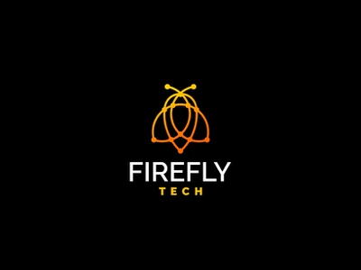 Firefly Tech forsale icon unused mascot illustration logo gradient bug tech firefly
