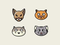 Cat head collection 1