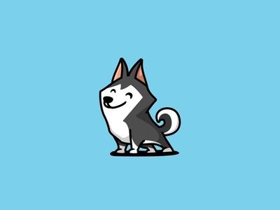 Husky mascot unused illustration logo character icon cute animal dog puppy husky