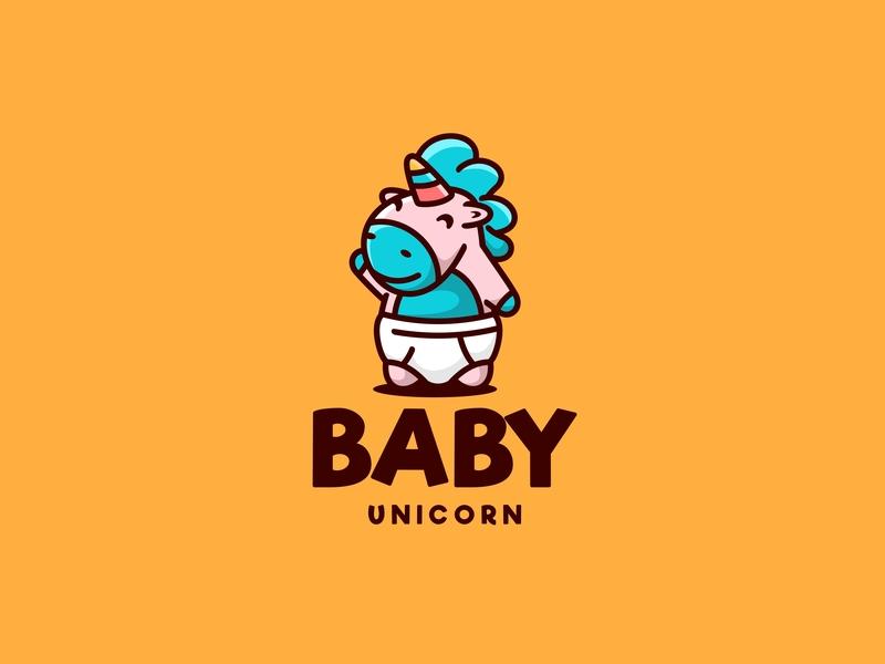 Baby Unicorn forsale character icon animal cute unused mascot illustration logo baby horse unicorn