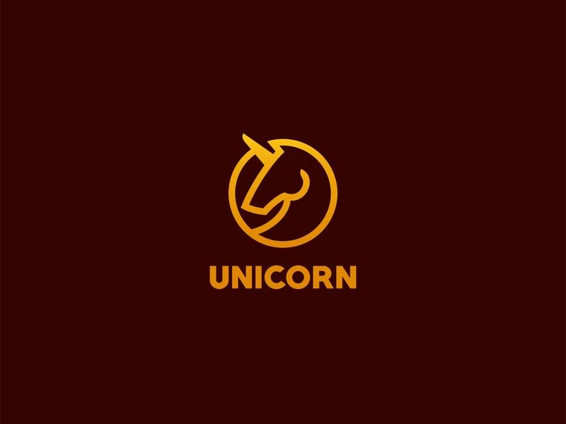 Unicorn horses negativespace design forsale character animal icon unused mascot illustration logo horn unicorn