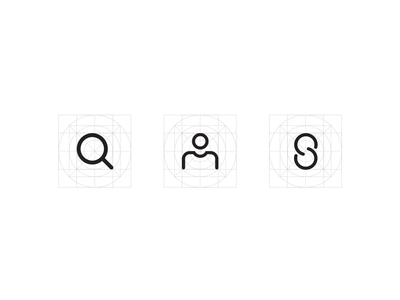 Optical Grid Icons