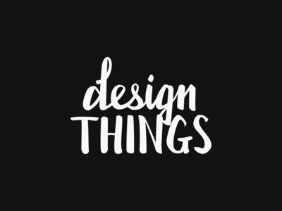 Design Things logo lettering
