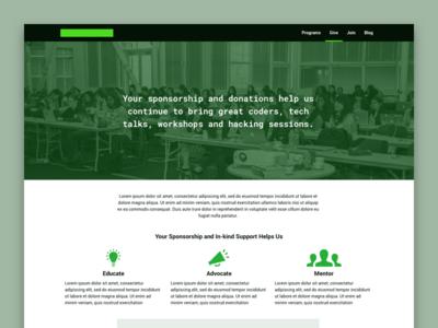 Nonprofit Redesign Preview website green web web design