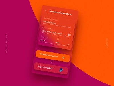 Checkout form ux mobile design mobile app mobile ui mobile app daily ui vector icon design logo illustration gradient design colors color ui