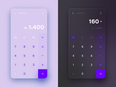 Calculator mnml minimal keyboard numbers ui dark theme dark mode dailyuichallenge dailyui app daily ui ux vector icon design colors gradient illustration design color
