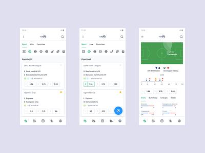 Betting app football soccer android mobile ux betting sport light bottons design ui