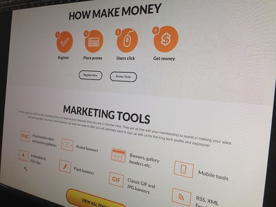how make money) web site promo product