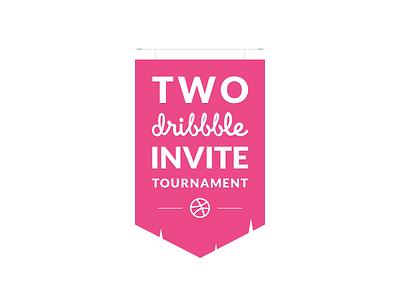 two dribbble invite invite tournament flag