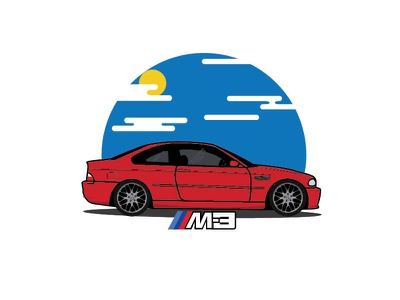 What dreams are made of - BMW e46 M3 illustration