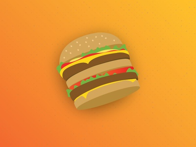 Fast food without the intergestion. vector food illustration