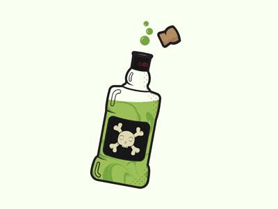 Poison Bottle illustration