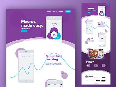 Macrome UI vector minial promo landingpage flat web ui wip