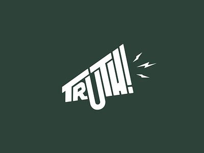 Truth Logo Mark minimal flat typography branding design illustration icon logomark logo brand graphic design logo graphic design