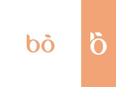 Bõ lettermark wordmark elegant app graphic design branding box gift orange minimal design logo