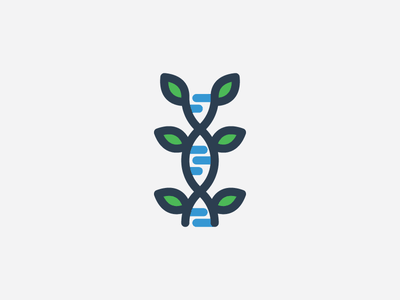 Science and Nature - 2 green blue dna leaf school