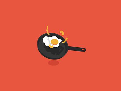 Cooking coding (WIP) white orange logo programming coding pan omelette egg cooking