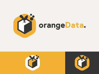 Orange Cubes logo design cubes cube fruit bold yellow orange black minimal logo