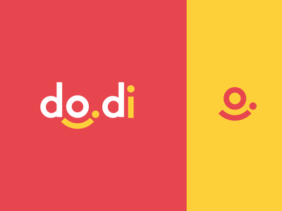 do.di (Faux app brand) clean modern yellow red pink wordmark logo