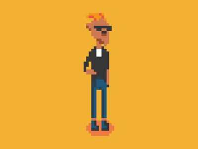 Rocking This - Pixel art Rocker Goat