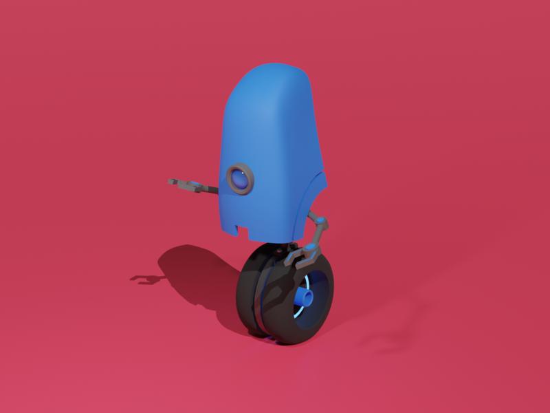 Cute Robot playoff model 3d robot