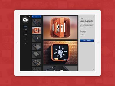 Mobile Portfolio (Tablet Concept)