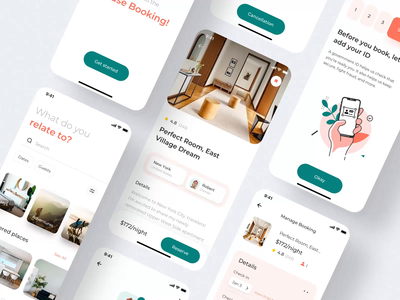 House Booking motion design ui8 ux ui design booking app booking animation aftereffects