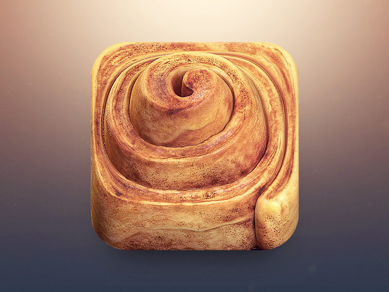 Cinnamon Roll App Icon bread ios roll apple cinnamon icon appicon