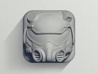 """""""FLAT"""" Helmet Icon"""