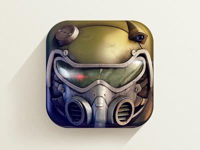 Future Soldier  icon icons icon design graphics graphic design illustration photorealistic