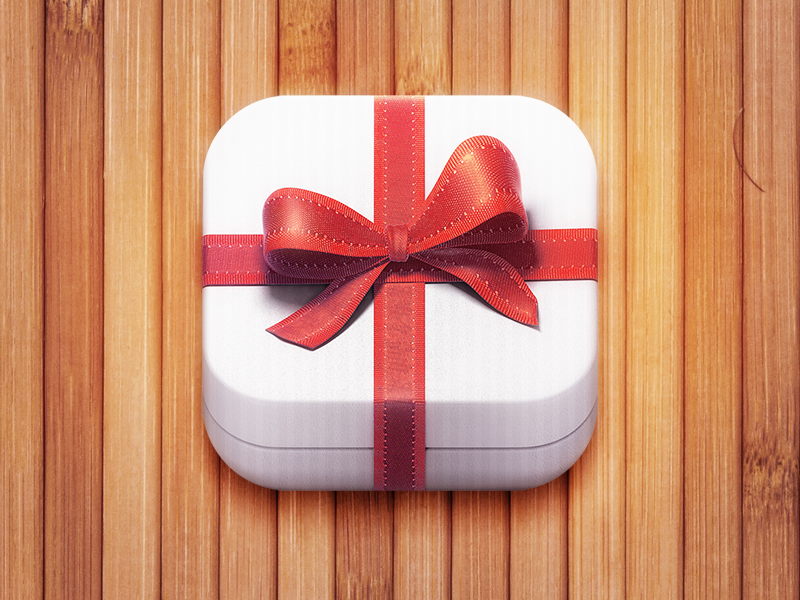 GiftBox ios app icon gift box