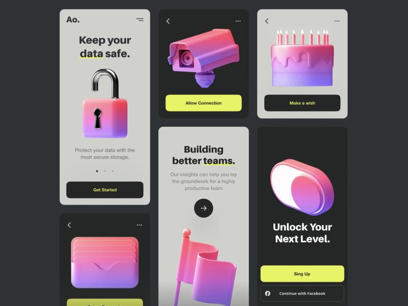 Customizable 3D Icons 📦 c4d figma illustraion icons