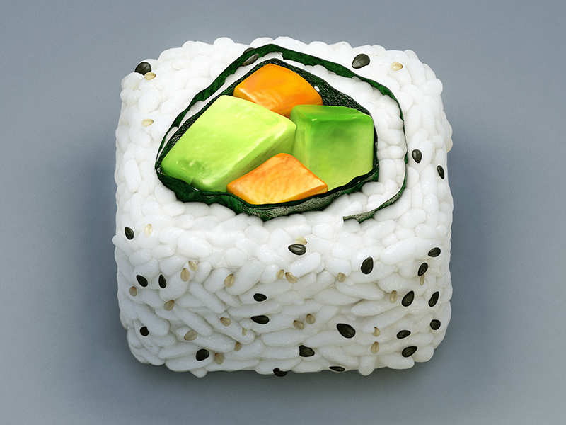 California Roll Icon ios sushi seaweed roll california ipad avocado icon carrots apple iphone