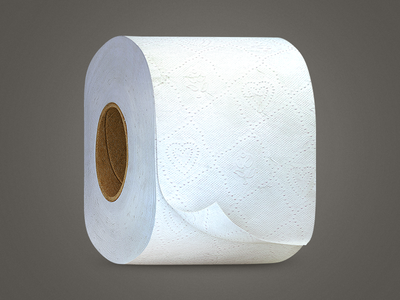 TP Roll toilet tp paper roll ios white icon