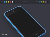 iPhone 5c + Case Showcase Template (PSD)