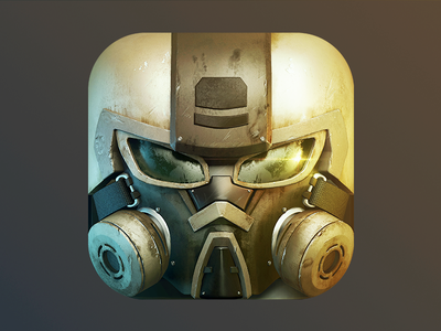 Soldier icon ios7 skew notflat soldier mask ios nolongshadows 3d
