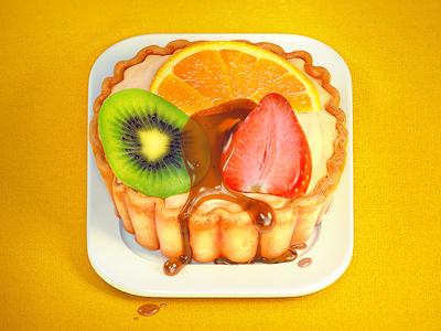 Fruit Tart Icon ios icon fruit tart kiwi strawberry orange