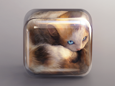 Kitten Icon cat furry glass icon ios kitten