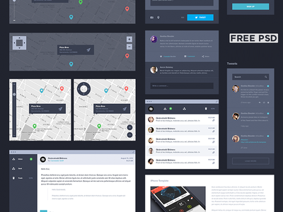 UI Kit Dark [Free]