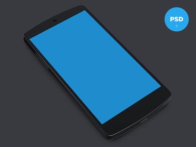 Nexus 5 Template nexus5 freebie psd android template